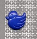 Buttons 15mm Royal Blue Ducks 0486