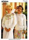 Floral Lace Sweater Knitting Pattern, 32-42