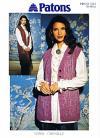 Chenille Lacy Waistcoat Knitting Pattern, 30-40