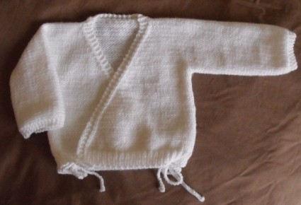 Baby Wrap Crossover Cardigan Hand Knitting Pattern Download Version