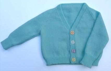 Newborn V Neck Raglan Cardigan Machine Knitting Pattern Download